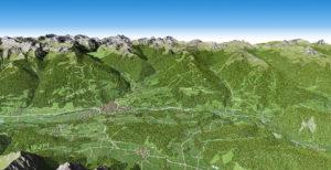 3D Panoramakarte Schladming Dachstein