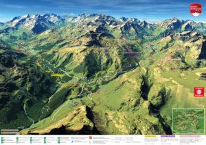 3D Panoramakarte Wandern Warth Schroecken