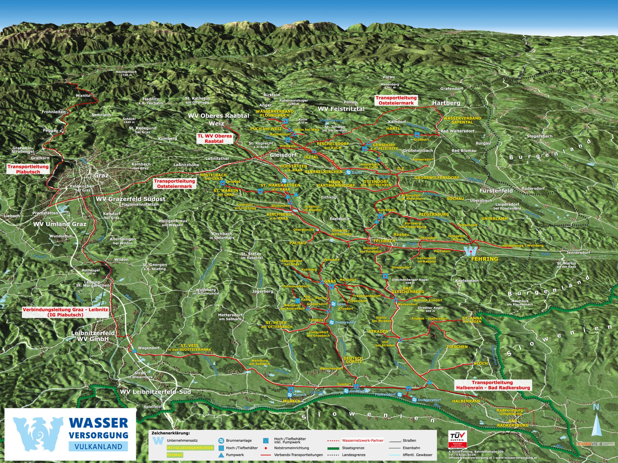3D Panoramakarte Wasserverband Grenzland Suedost