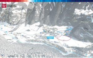 3D Panoramakarte Winter Langlaufen Umhausen Niederthai Soelden Oetztal