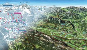 3D Panoramakarten real. emotional wie gemalt. manipulierbar Kufsteinerland