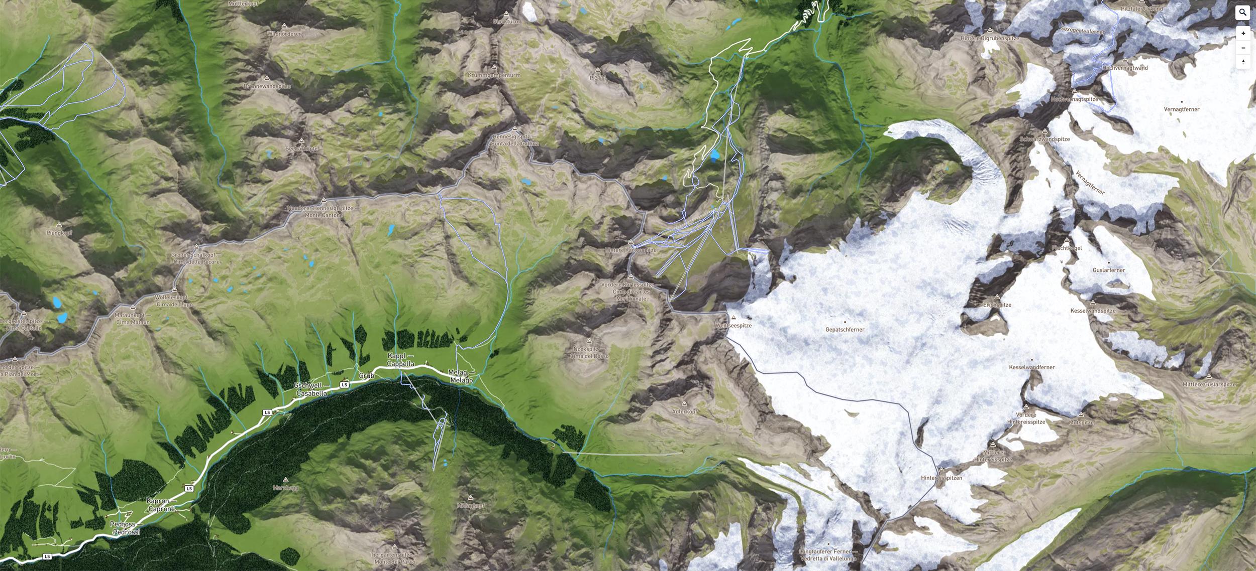 Grundkarte auf Basis einer 3D Panoramakarte