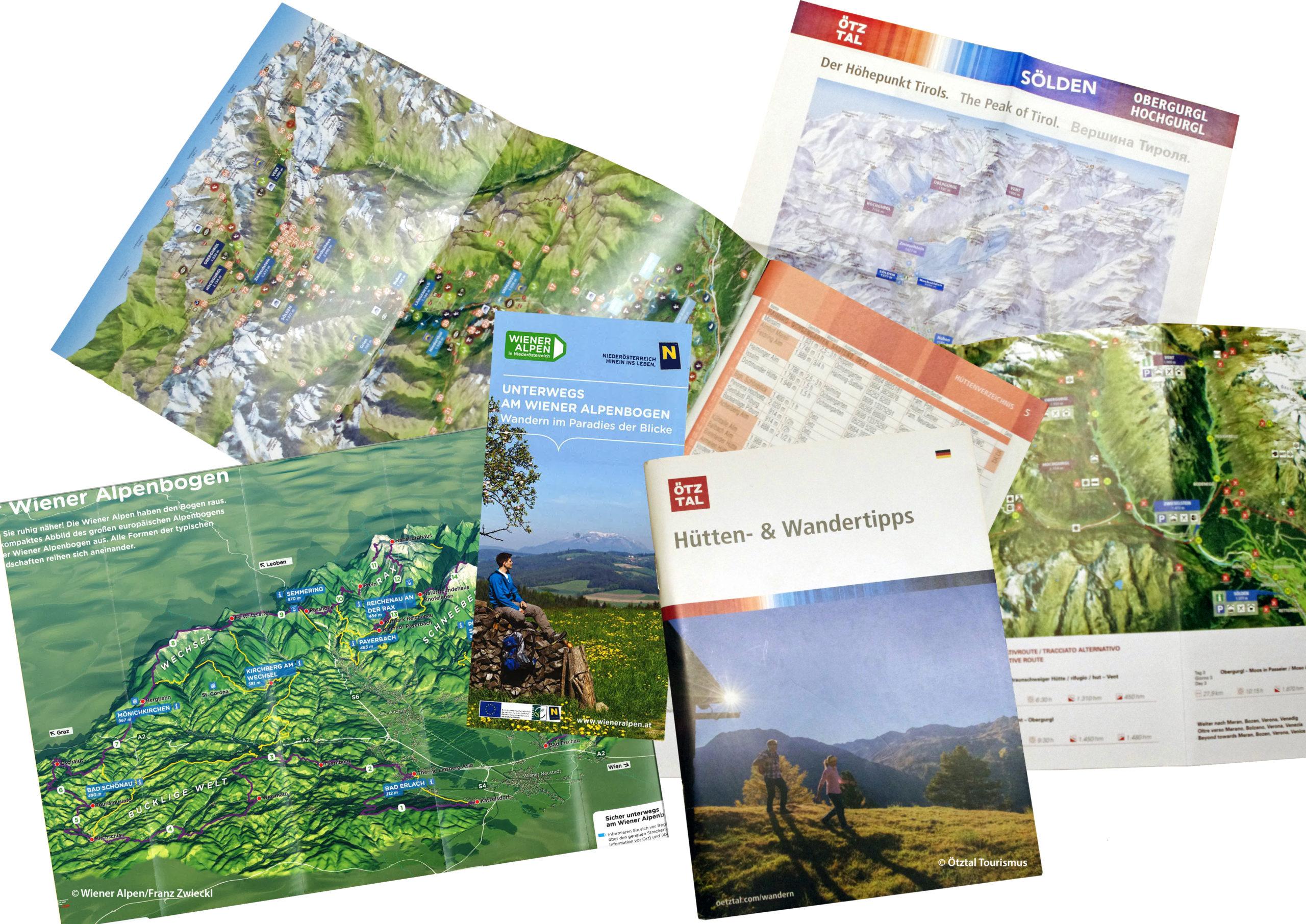 3D Panoramakarte 3D Printkarte Oetztal Wiener Alpen