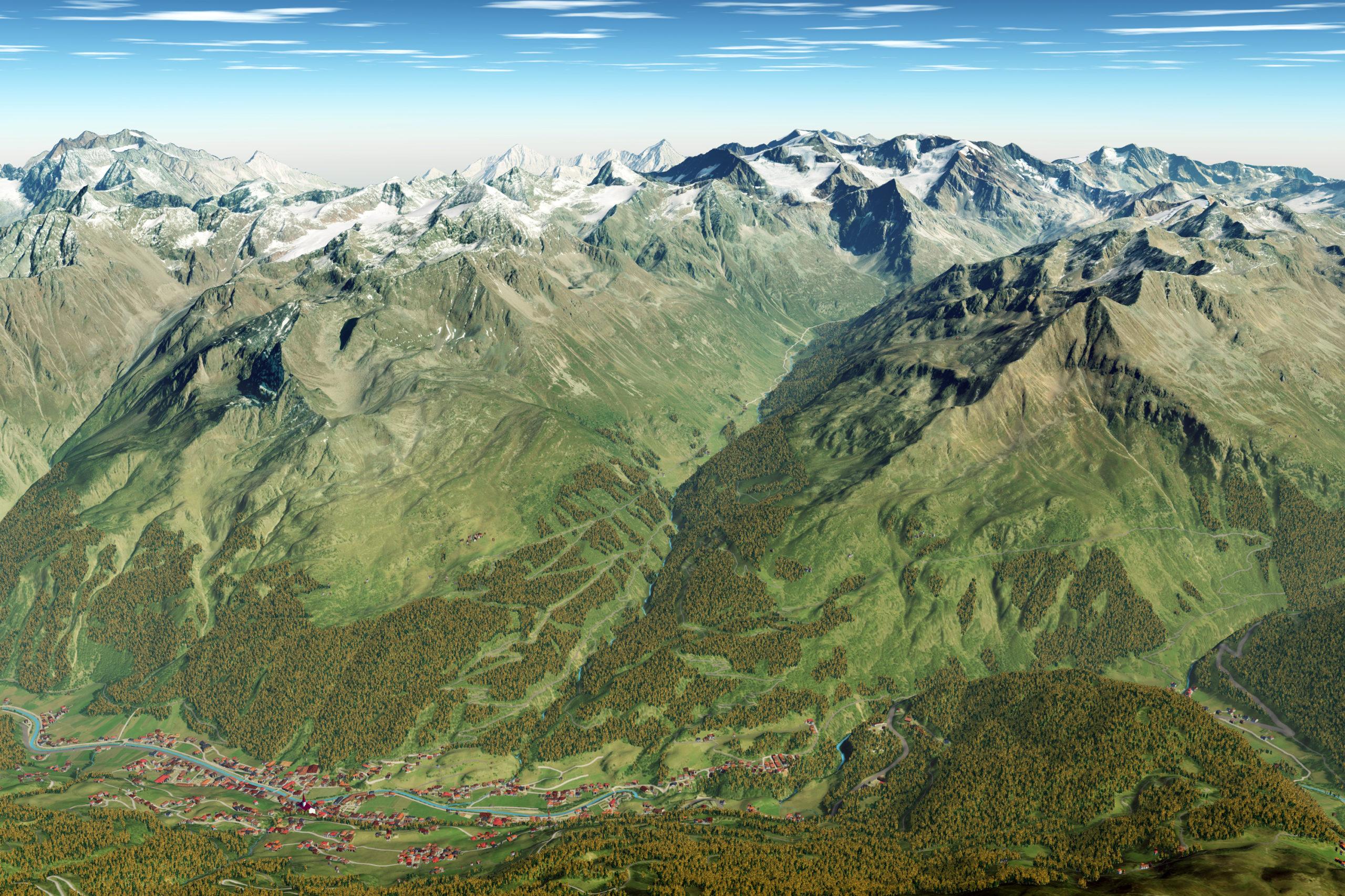 3D Panoramakarte Almzeit Herbst