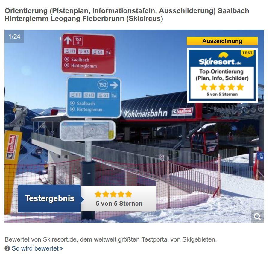 Pistenleitsystem Skicircus Saalbach Hinterglemm Leogang Fieberbrunn Skiresort
