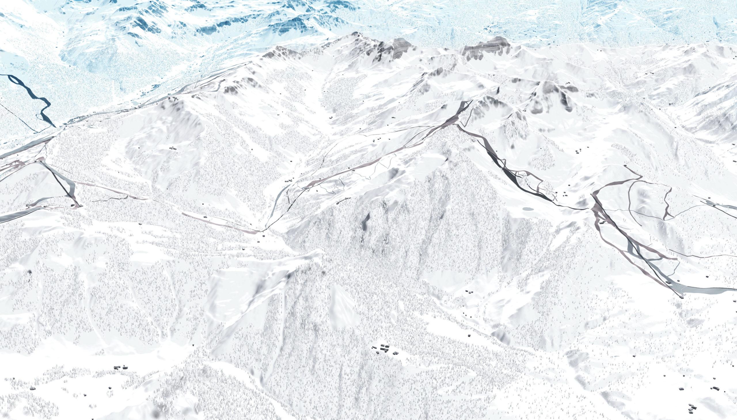 Saalbach Hinterglemm Leogang Fieberbrunn Zone E Reckmoos 3D Panoramabearbeitung Filter blau