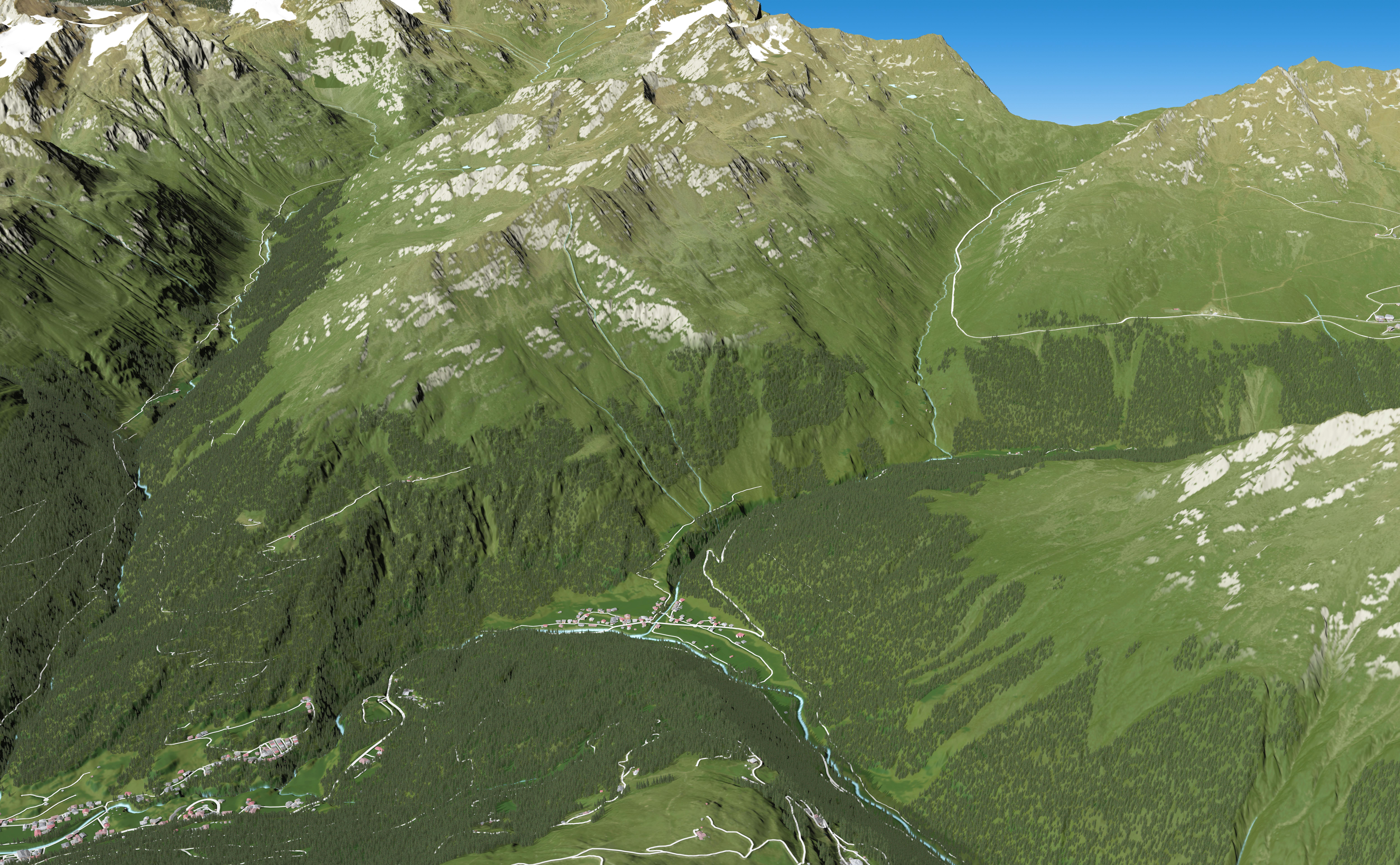 3D Panoramakarte Zwieselstein Ötztal