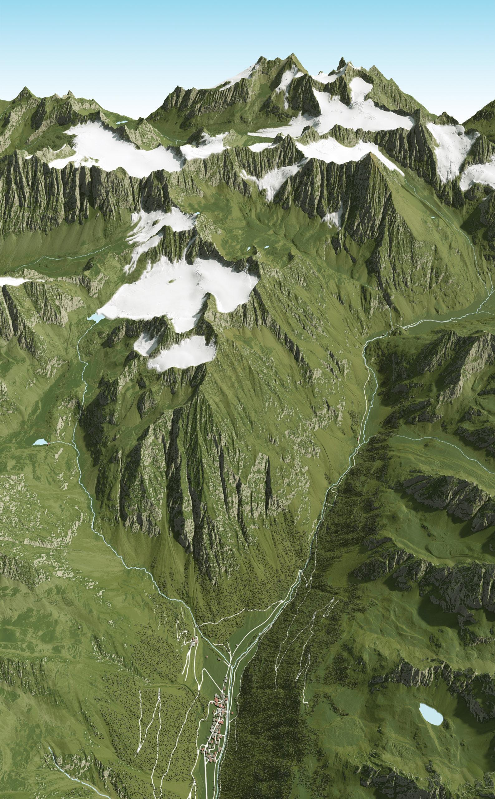 3D Panoramakarte - Gries Ötztal