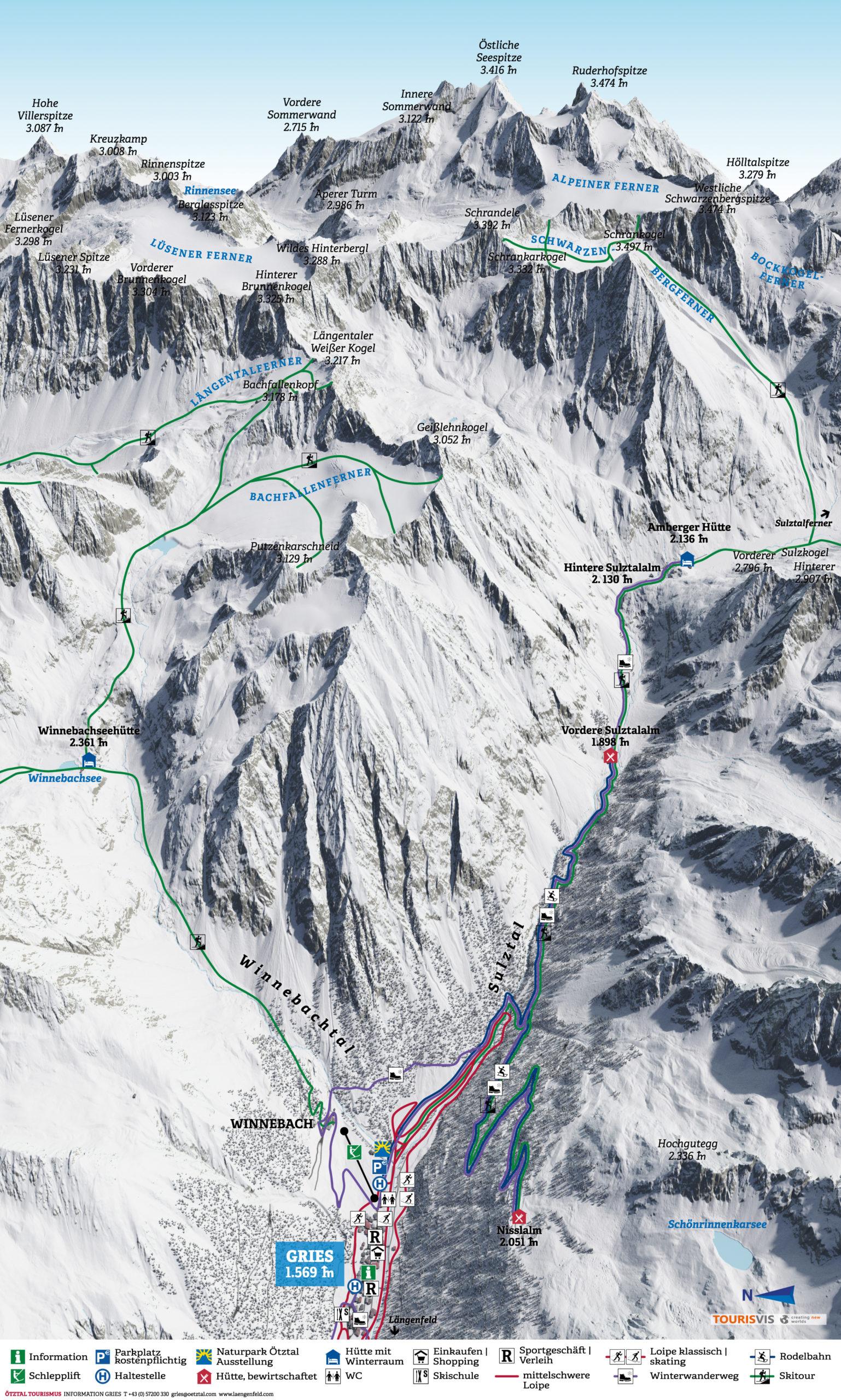 3D Panoramakarte Gries Winterpanorama Slider
