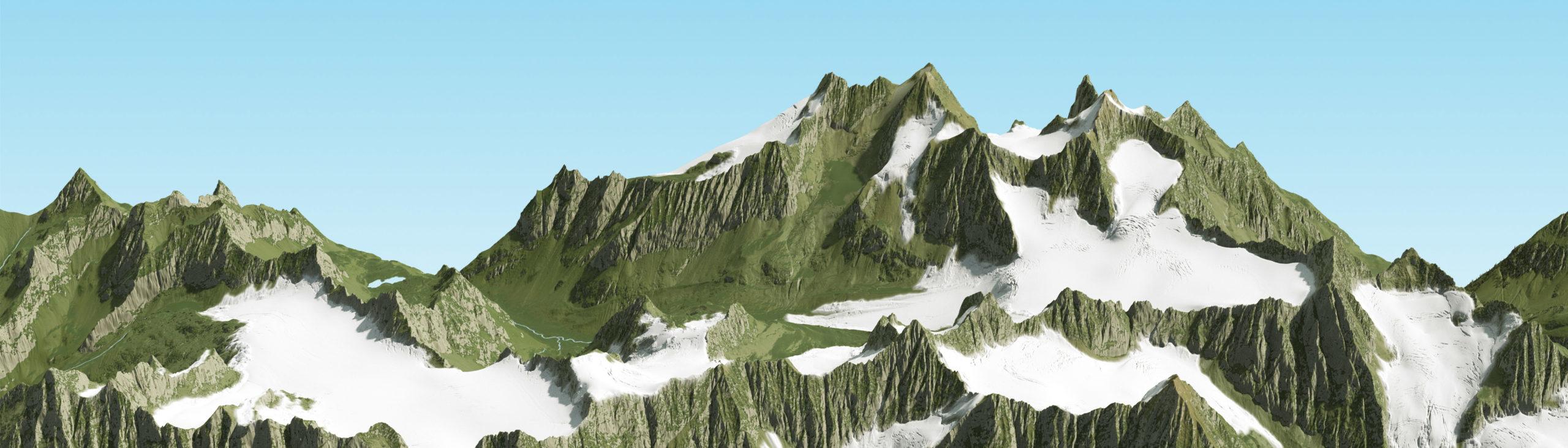 3D Panoramakarte Sommer - Gries Ötztal
