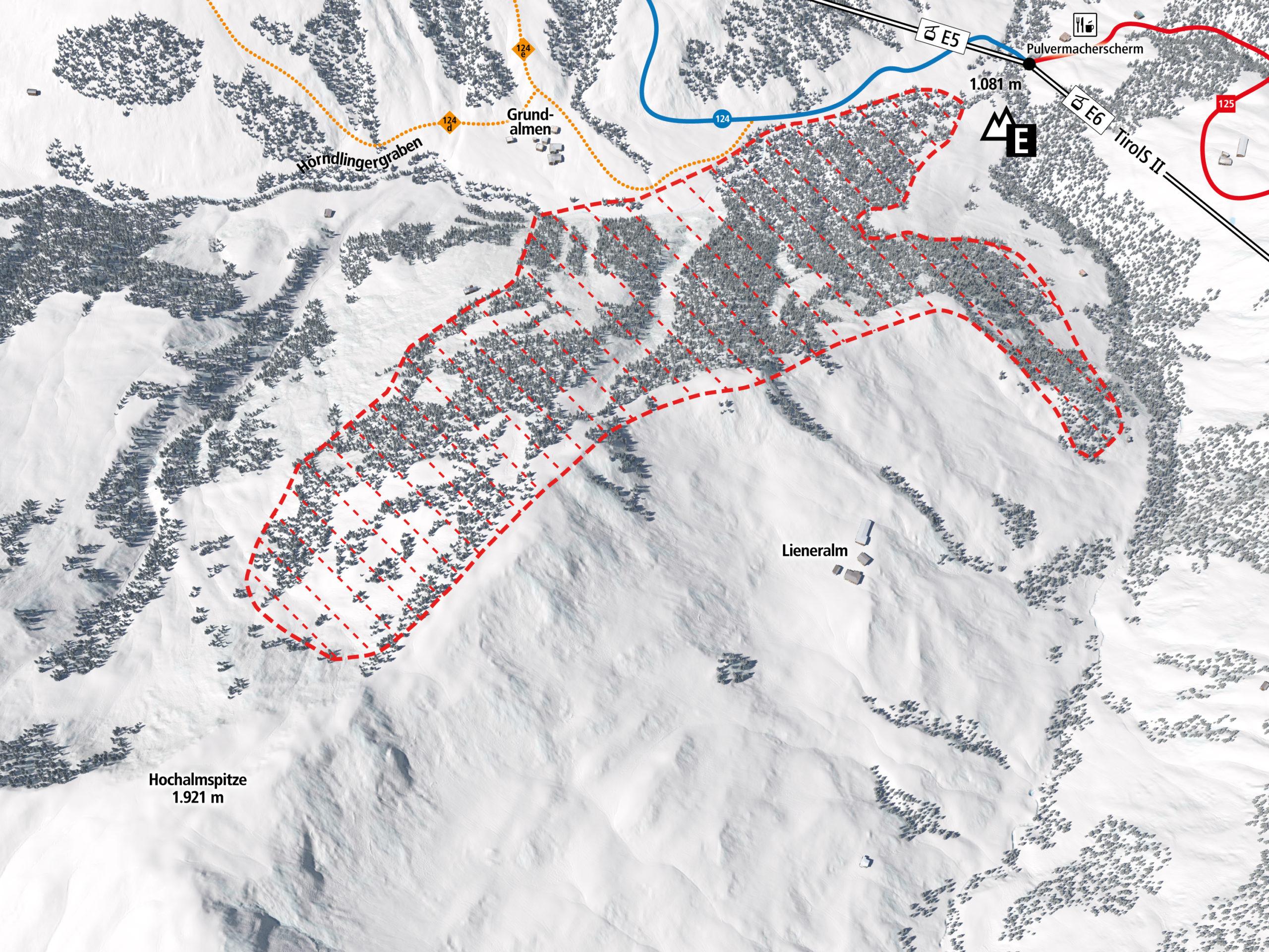 3D Panoramakarte Wildschutzzone Reckmoos