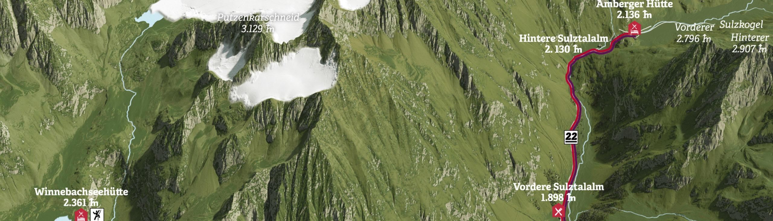 3D Panoramakarten Panokarte - Gries Ötztal