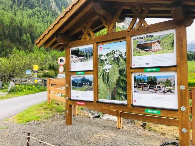 3D Panoramakarte - Panoramatafel Gries Ötztal Wandern