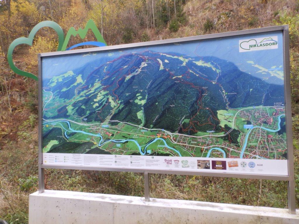 3D Panoramakarte - Panoramatafel Mugel TVB Niklasdorf