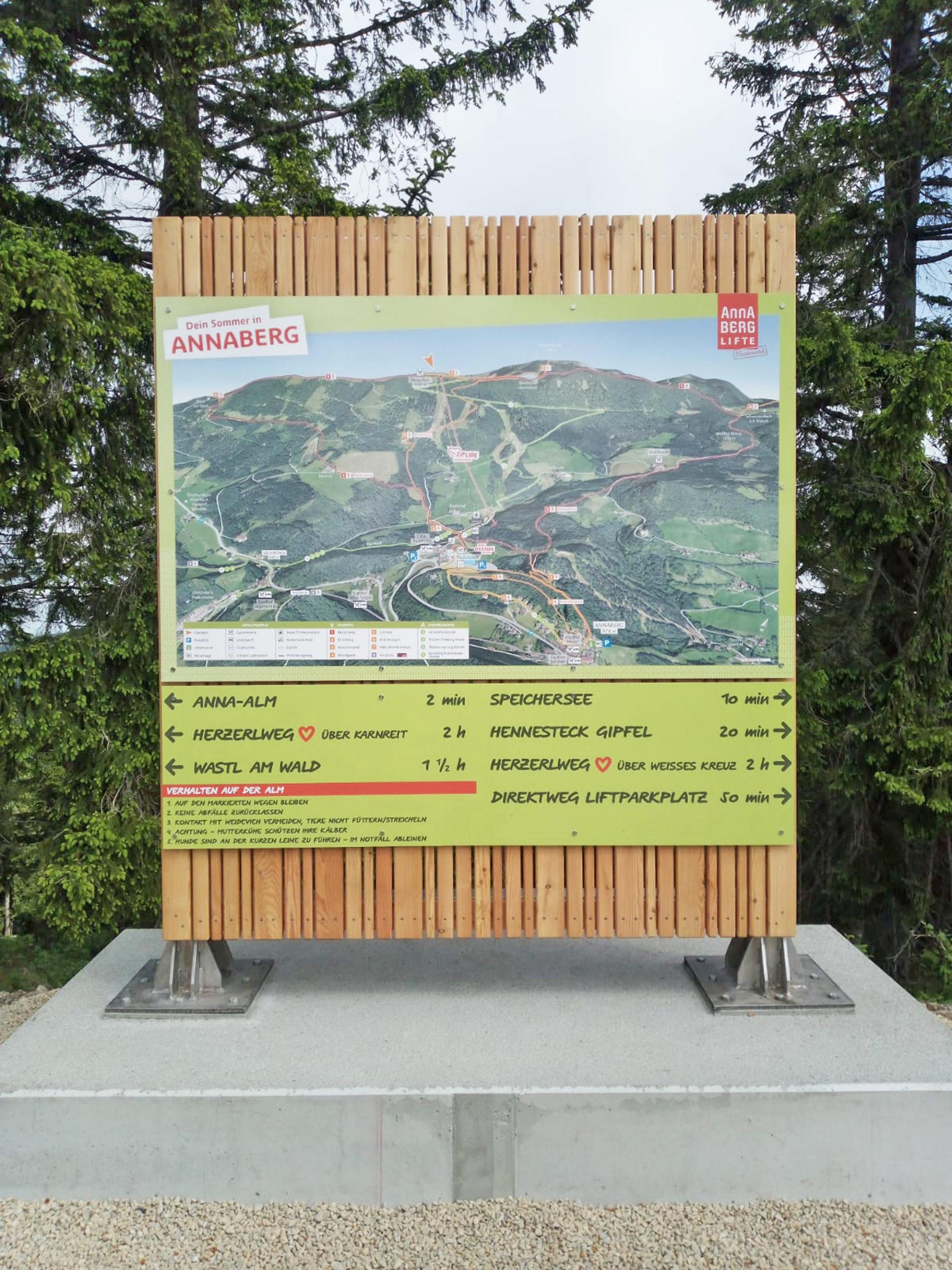 3D Panoramakarte - Panoramatafel Sommer - Annaberg Hennesteck