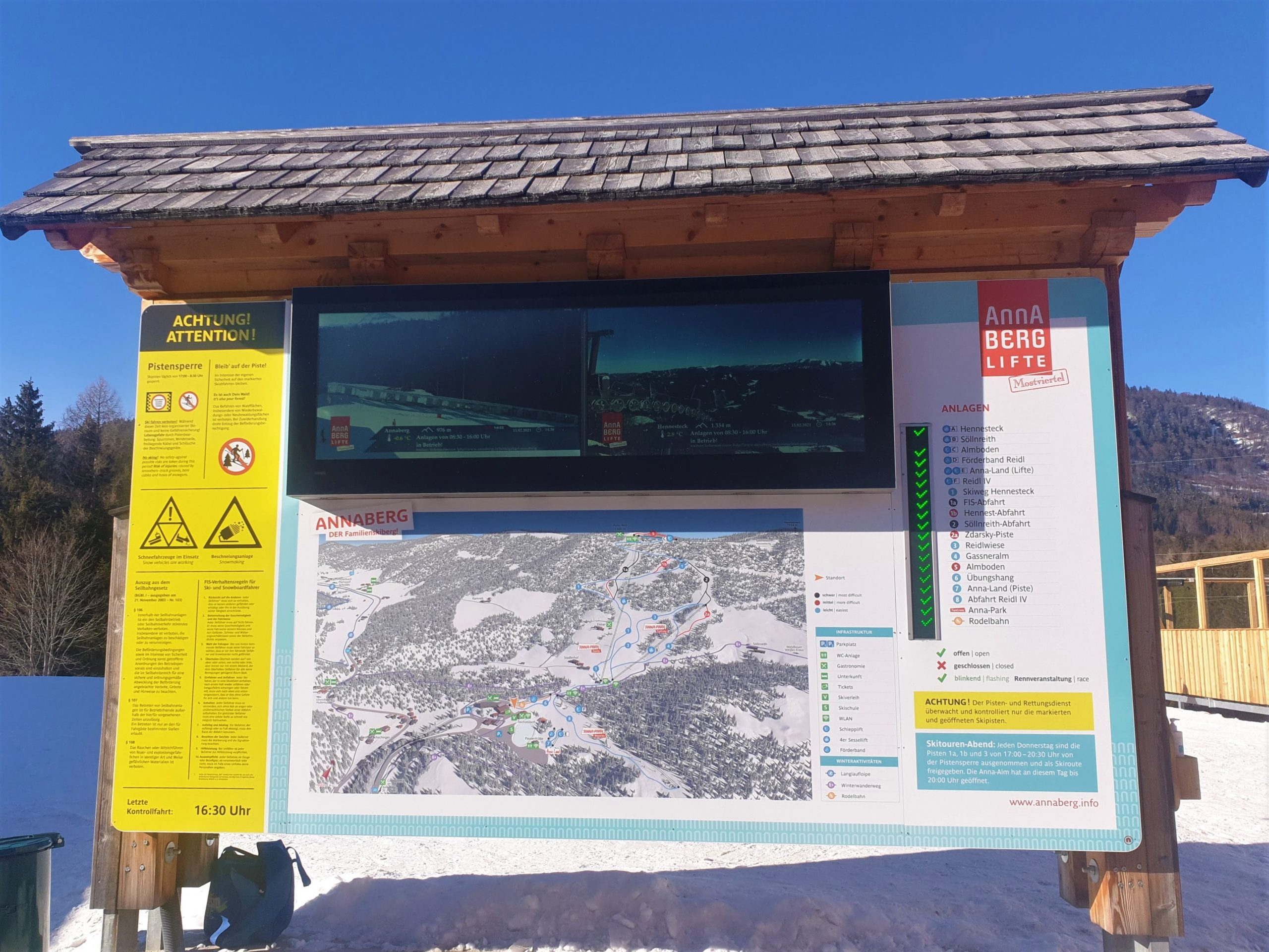 3D Panoramakarte - Panoramatafel Winter - Annaberg Hennesteck